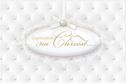 Zaproszenie Na Chrzest święty Kartki Zaproszenia Kacper I Matylda