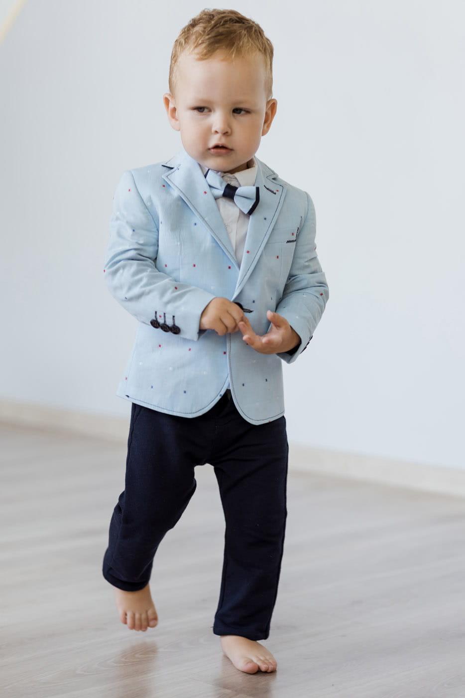 48a187d1c6194 LaFerio Sky garnitur dla chłopca niebieski - Garniturki - Kacper i ...